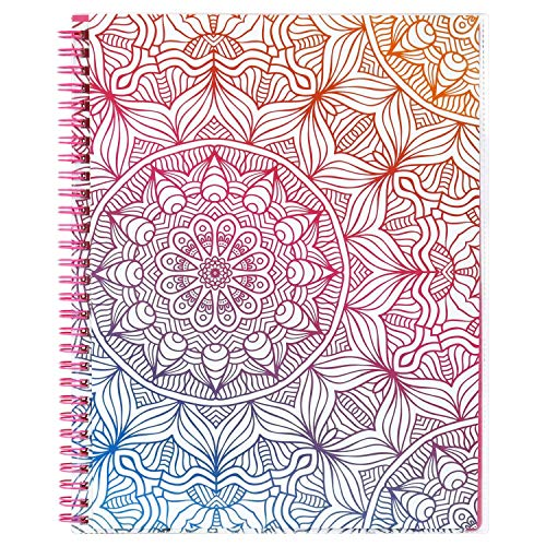 2019 Planner - Academic Weekly & Monthly Planner, Twin-Wire Binding with Flexible Pocket Cover, 12 Month Tabs (DIY), 8' x 10' - Lemome