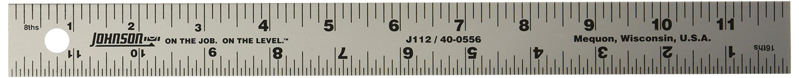 Johnson Level, Tool J112 Aluminum Rule 12-Inch