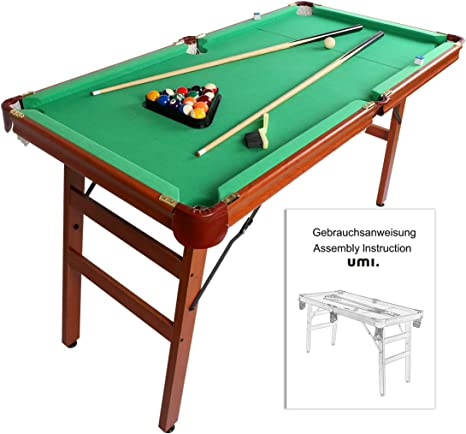 Umi. Essentials Mesa de Billar Snooker Mesa Plegable 55