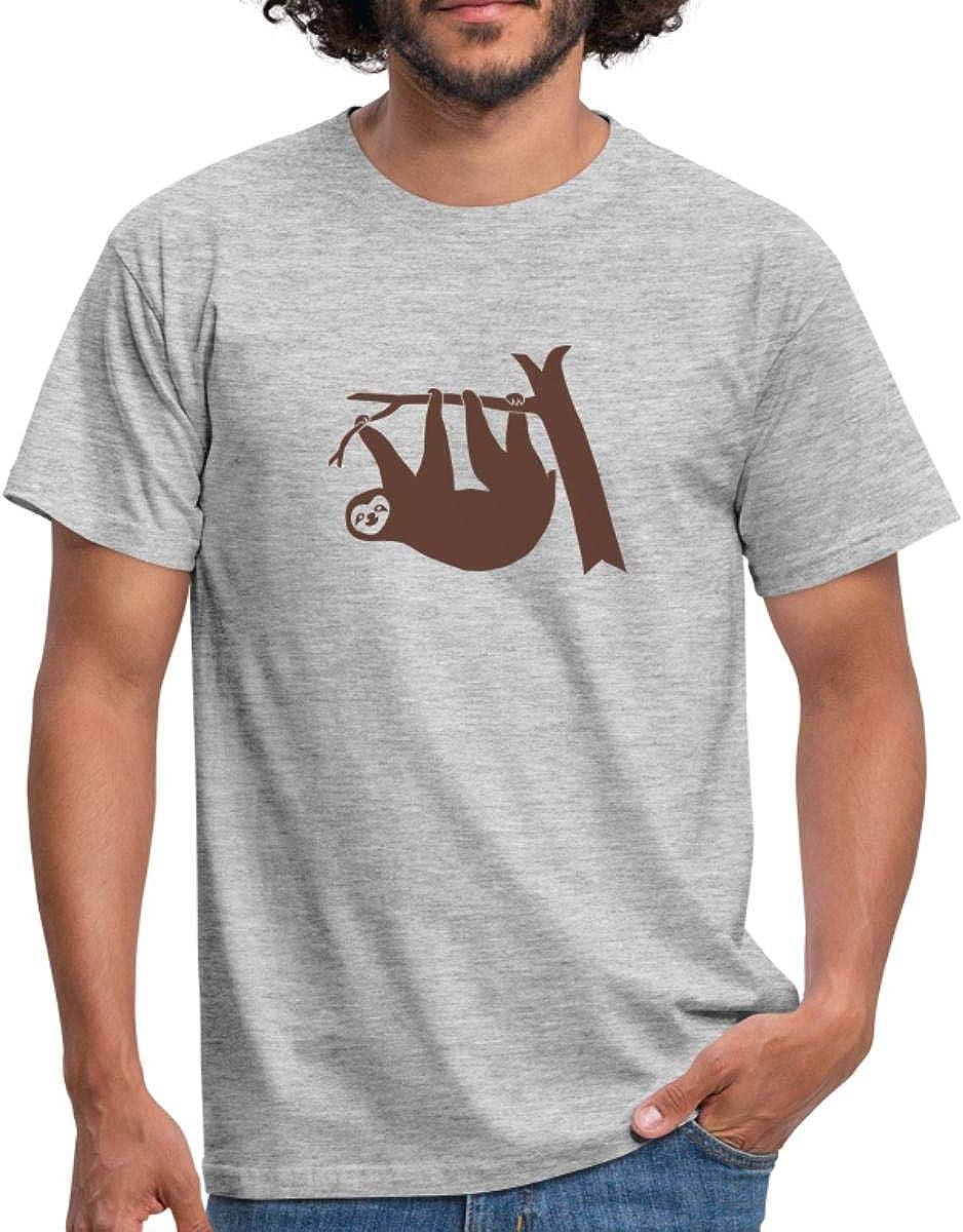perezoso Stece Escalada Hombres camiseta de Spread ...