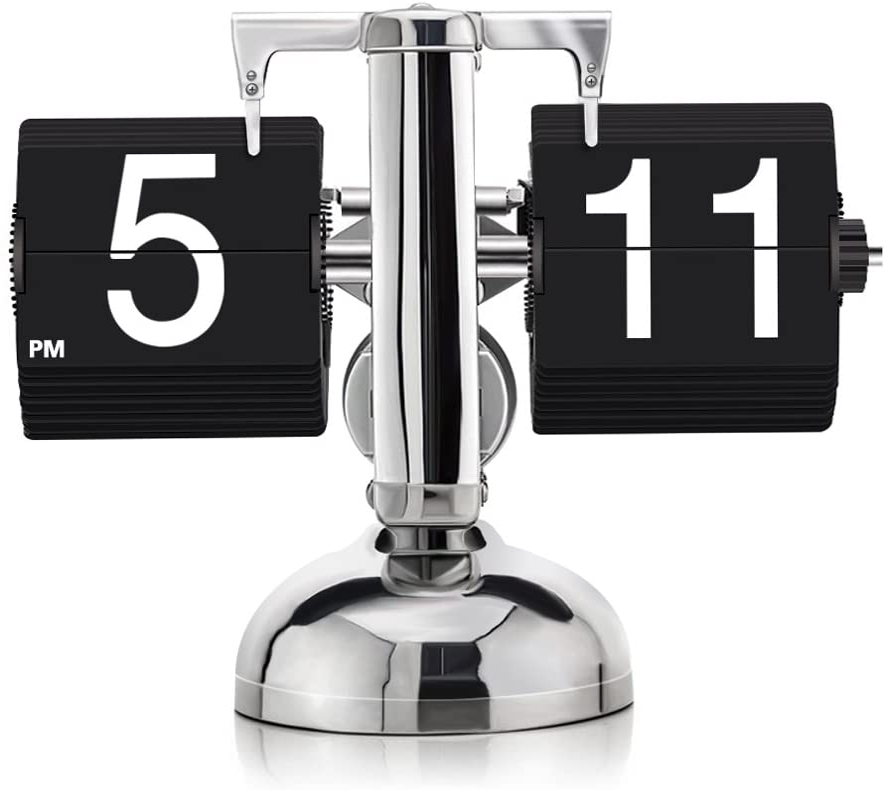 KABB DZ-3 Modern Digital Mechanical Retro Flip Dоwn Clock wіth Internal Gear Operated