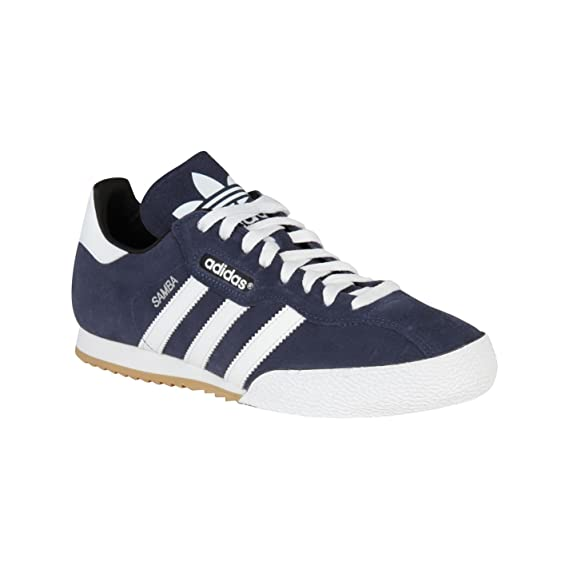 7a3fd067b5d4e2 Adidas Originals Samba Super Suede Navy White Mens Trainers (8 UK)