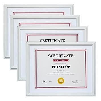 Amazoncom Petaflop 85x11 Picture Frames 4pcs White Certificate