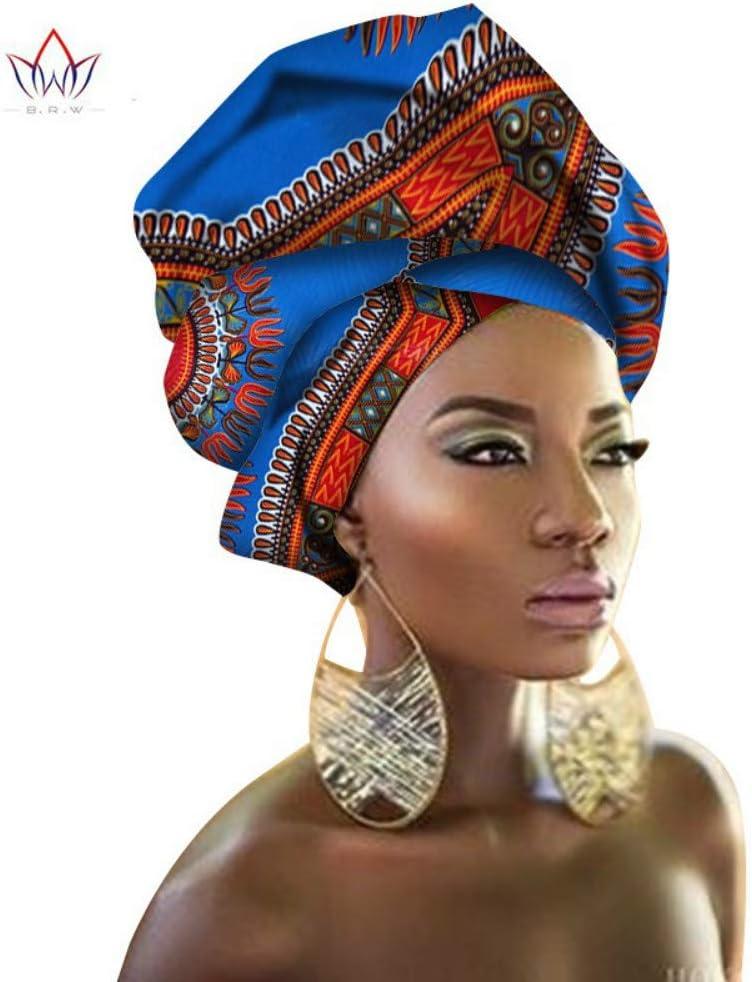HUALI Pañuelo de algodón para Mujer, Toalla de Cabeza de Tela con Estampado Batik, pañuelo de Moda Nacional Africano.: Amazon.es: Hogar