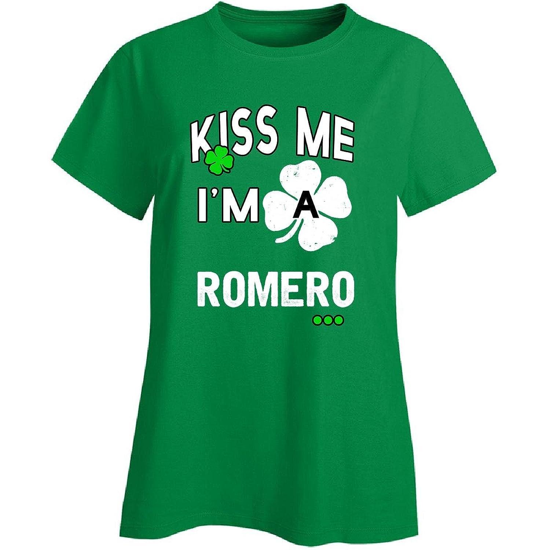 Funny St Patricks Day Irish Kiss Me Im A Romero - Ladies T-shirt