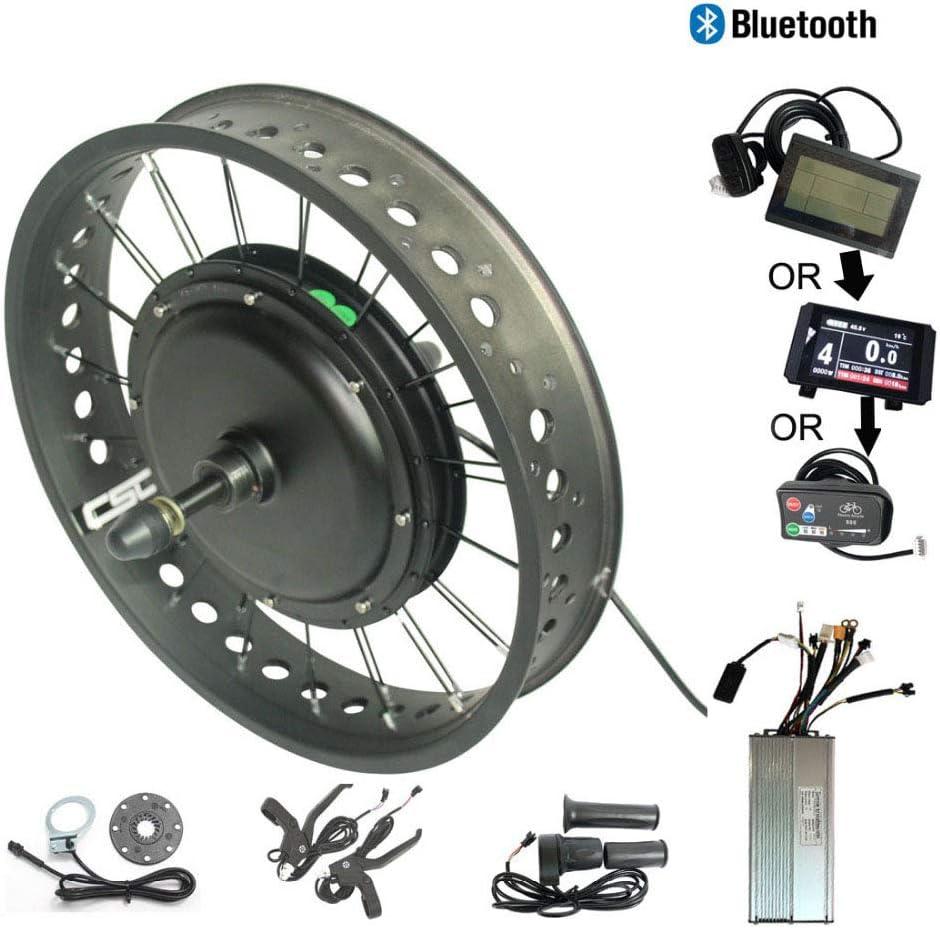 WENHU Kit de Ruedas traseras LED880 170Mm-eléctrico Motor de Bicicleta de Nieve Gorda Sin Equipo Regeneración Anti-Carga Bluetooth Ebike