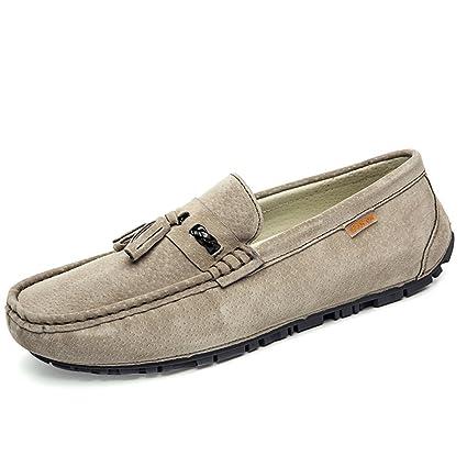 Hongjun-shoes, Mocasines Drive para Hombre, Mocasines de Barcos Transpirables de Moda con