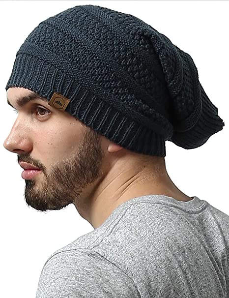 Slouchy Cable Knit Beanie by Tough Headwear - Chunky, Long