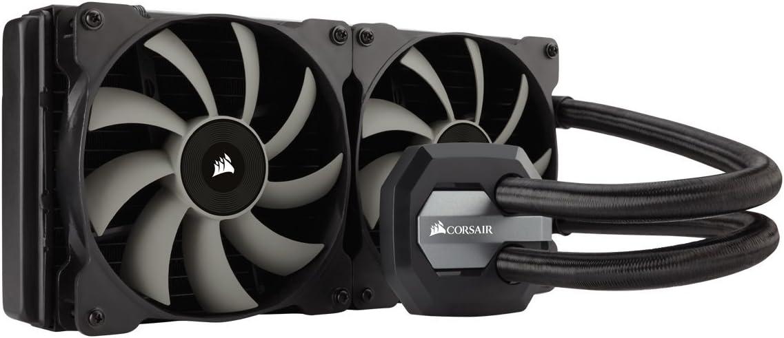CORSAIR Hydro Series H115i AIO Liquid CPU Cooler, 280mm Radiator, Dual 140mm SP Series PWM Fans, Advanced RGB Lighting and Fan Software Control (Renewed)
