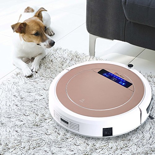 iTouchless High-Power, Self-Charging Robotic Vacuum Cleaner with UV-C Sterilizer and HEPA Air Filter for Pet Fur and Allergens, Wet Mop for Hard-Surface Floors, Extra-large Bin Capacity, Rose Gold by iTouchless (Image #8)
