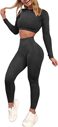 Details about  /Women Seamless Sport Gym Yoga Crop Top Ruched Knot Outfit Wear Set Shorts BFS163