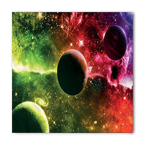 (Ambesonne Psychedelic Bandana, Cosmos Galaxy Nebula, Unisex Head and Neck Tie)