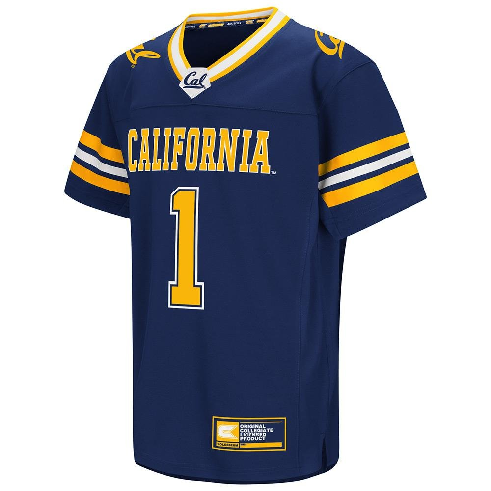ユースCal Berkeley Golden Bears FootballファッションJerseyチームカラー B0736DYPYB Large (16/18)