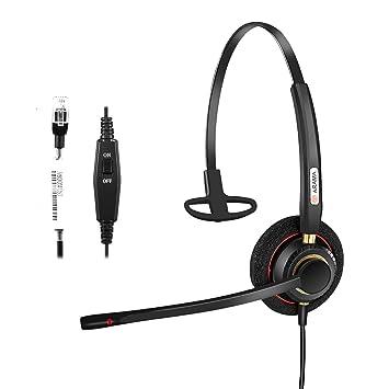 Arama A800S Telefon-Headset mit Geräuschunterdrückung für Festnetz-Tischtelefone  Avaya Aastra Allworx Adtran Alcatel 7cdd9ce90d
