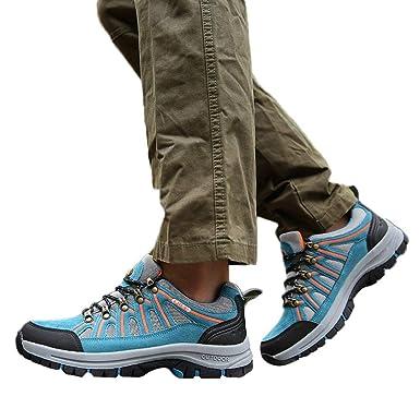 Zapatillas Hombre JiaMeng Zapatillas Running Hombre Zapatillas Deportivas Hombre de Senderismo Antideslizantes Zapatillas Deportivas cómodas y Ligeras: ...