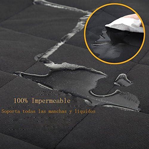 Zumeca Cubierta Asiento Perro, Cubierta Impermeable de Mascotas para el Asiento del Coche Anti-Deslizamiento 6