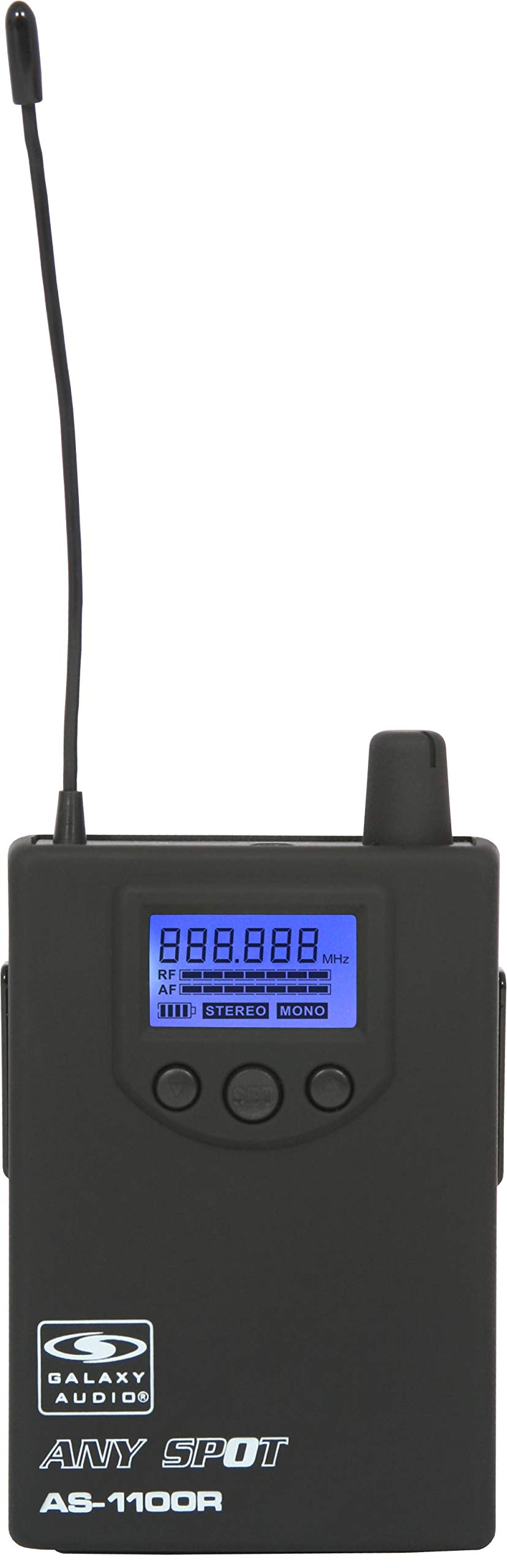 Galaxy Audio AS-1100R Wireless In-Ear Monitor Receiver, Code D (584 MHz - 607 MHz)