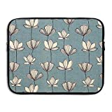 D-MUSE Lotus Map Printed Computer Storage Bag Portable Waterproof Neoprene Laptop Sleeve Bag Zipper Pocket Cover 13 Inch For MacBook Pro, MacBook Air, Notebook