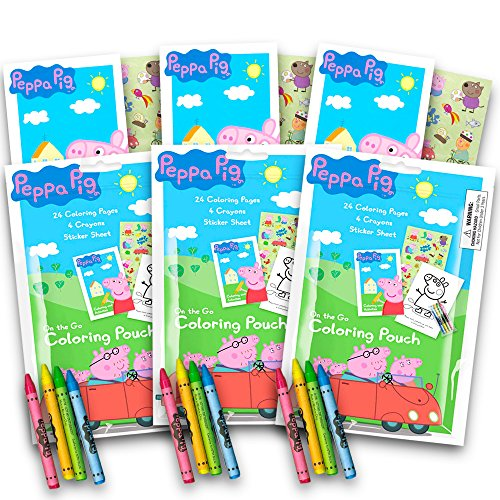Peppa Pig Coloring Pack Party Favors With Stickers Crayons And