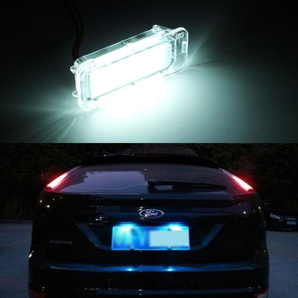 2 X Luz de Matricula 18 LED SMD LED traseras CanBus error free Para Fiesta//Focus Kuga