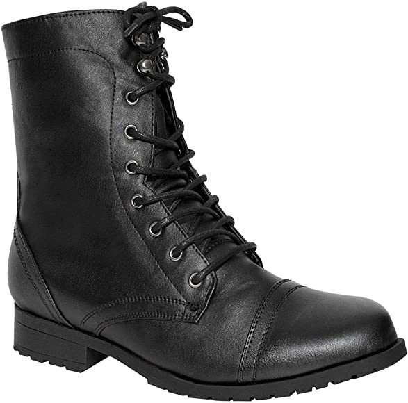 Army Military Combat Ankle Boots Size