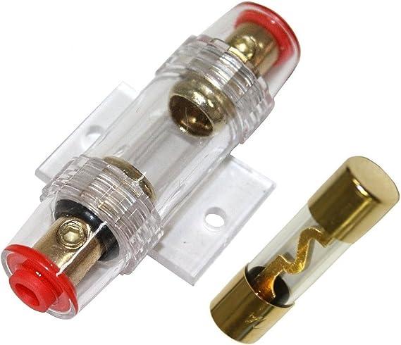 C1499 Lotto di 5 fusibili AGU per amplificatore sub per auto 80A AERZETIX