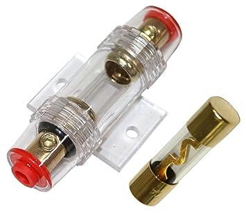 AERZETIX: Portafusible con fusible AGU 30A para amplificador de coche: Amazon.es: Coche y moto