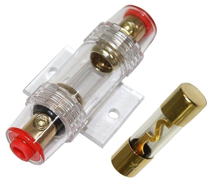 AERZETIX: Portafusible con fusible AGU 40A para amplificador de coche