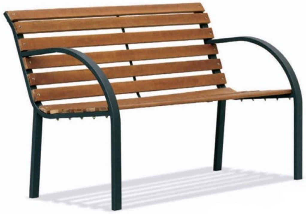 Savino Felipe SRL Banco Banco banqueta Sofá jardín Listones de Madera Estructura de Acero con Tratamiento anticorrosión para Entrada Porche Parque Exterior balcón terraza 2 plazas: Amazon.es: Jardín