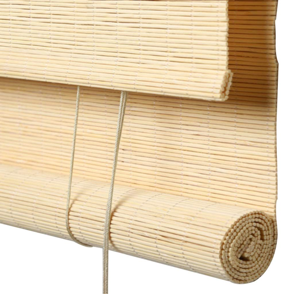 WY Bamboo Roll Up Window Blind Sun Shade (Color : B, Size : 130x250cm)