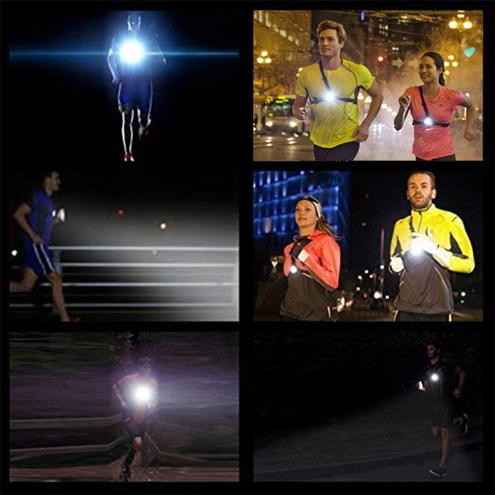 QLOUNI IP65 Luz Frontal Pecho Running LED - Pecho Lámpara para Correrde de USB Carga LED con 3 Modos Ideal para Camping de Senderismo/Fitness al Aire Libre por la Noche: Amazon.es: Deportes