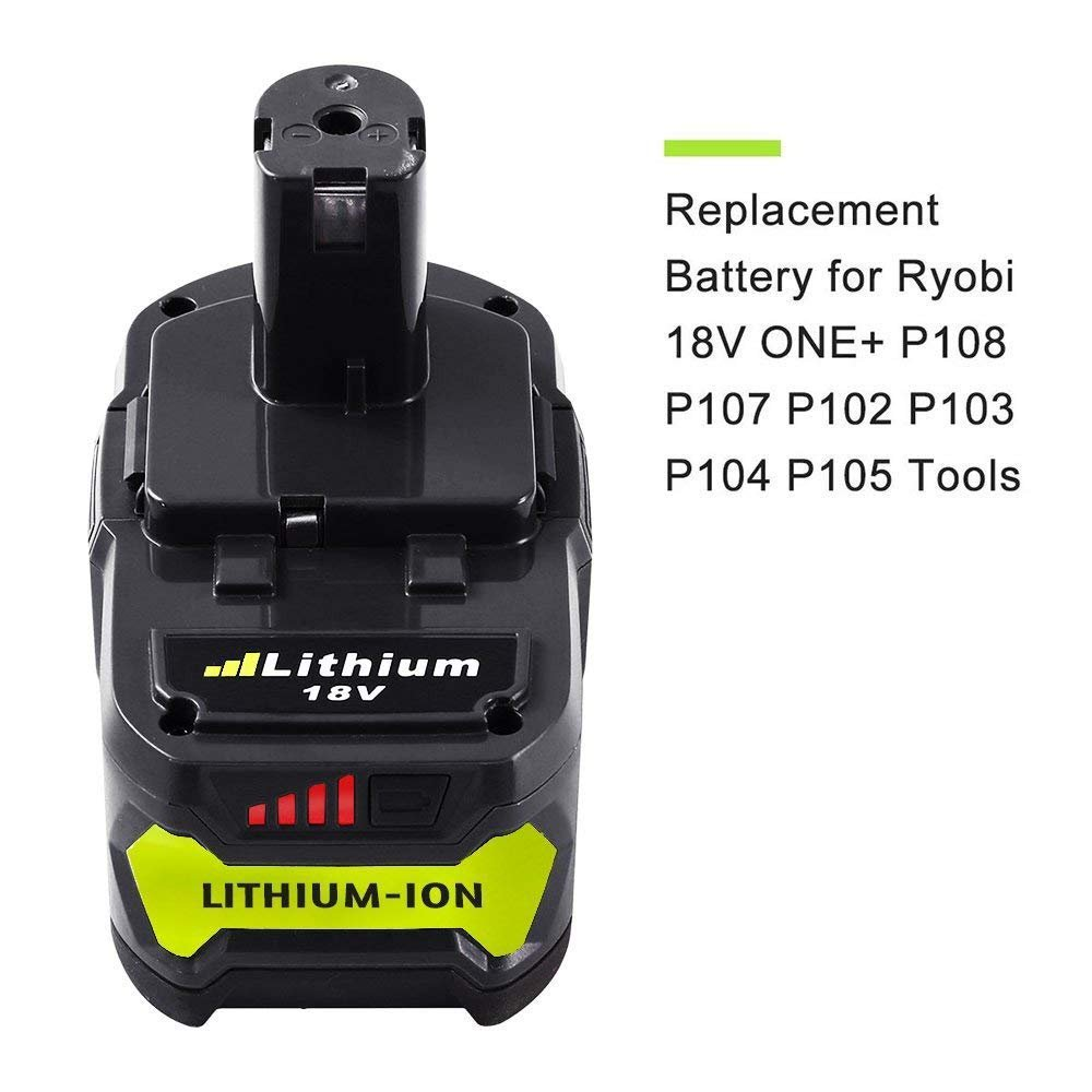 Dosctt P108 4.0Ah Replace for Ryobi 18V Battery 18 Volt One Plus P102 P103 P104 P105 P107 P109 Cordless Tool with LED Indicator by Dosctt (Image #2)