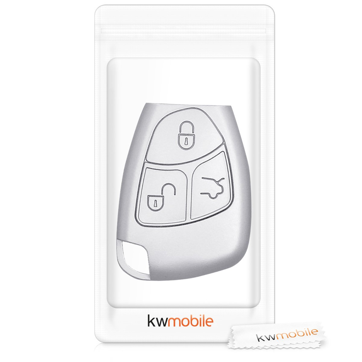 kwmobile Car Key Cover for Mercedes Benz Silicone Protective Key Fob Cover for Mercedes-Benz 2-3 Button Car Key White//Black