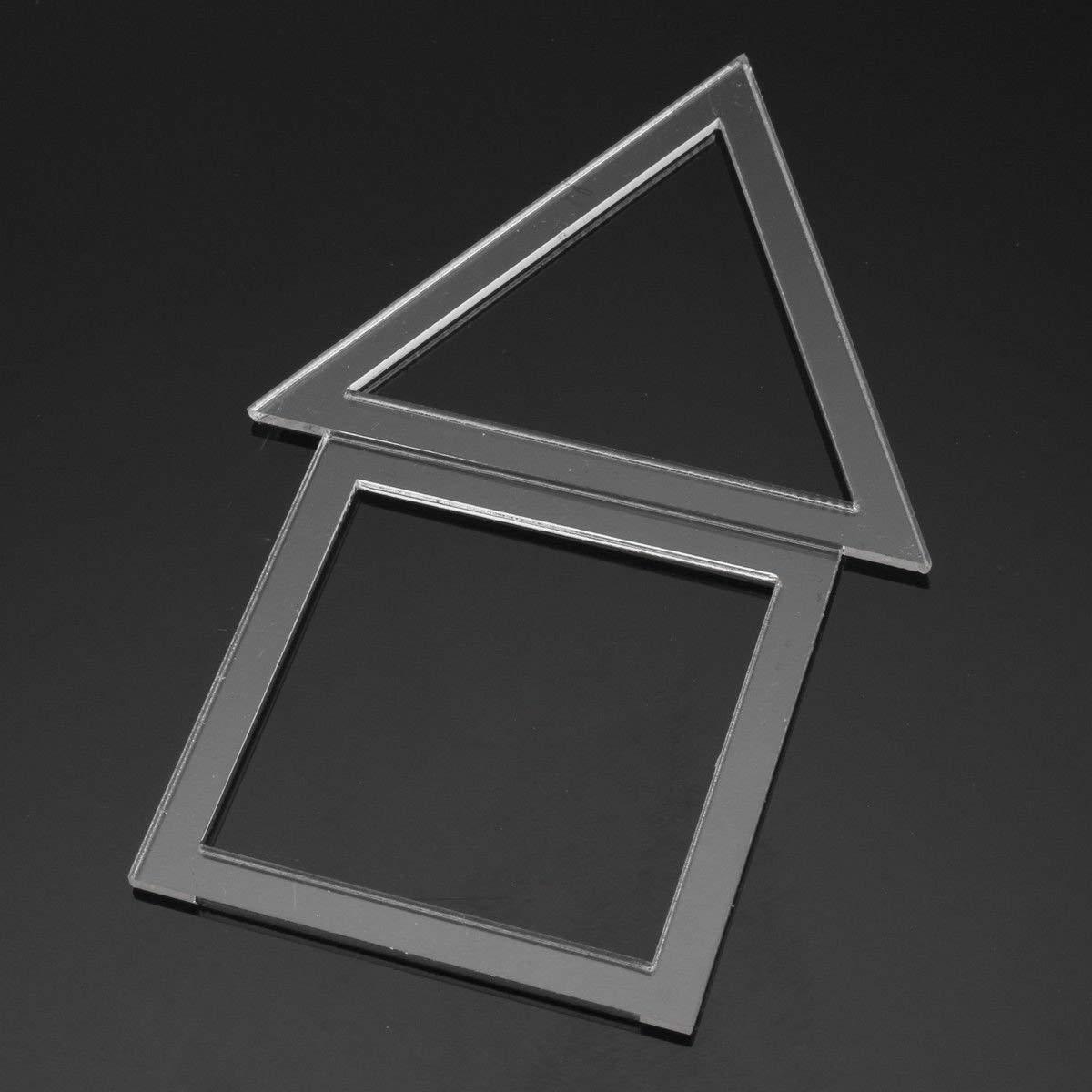 Ogquaton Durevoli modelli di quilting acrilico da 54 pezzi Stencil da cucito Set di strumenti per cucire righello patchwork