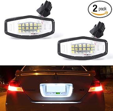 Set of 2,Brightest White LED License Plate Light Assembly Kit,Silverado Trucks