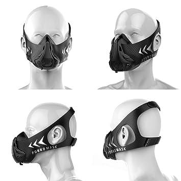 FDBRO - Máscara deportiva de alta altitud, color negro, con caja. Máscara de