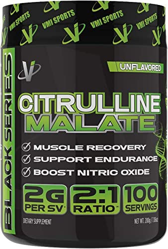 VMI Sports Citrulline Malate 2 1 Powder – Massive Muscle Pumps Vascularity, Improves Vascularity Athletic Endurance, Boost Nitric Oxides Muscle Recovery, Unflavored, 100 Servings, 7.06 Ounce