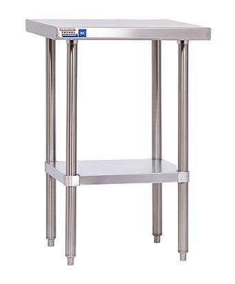 Mesa de acero inoxidable de 2 pies (610 x 610 x 914 mm de altura ...