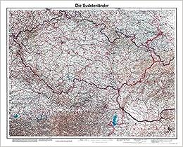 Historische Karte Die Sudetenlander 1938 Plano Amazon De
