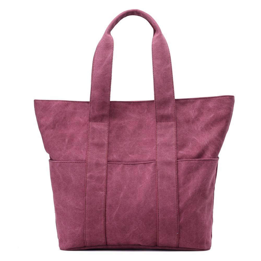 SJMMBB Bag, Bag, Canvas Bag, Retro, Large Capacity Bag,Violet,40X38X13Cm
