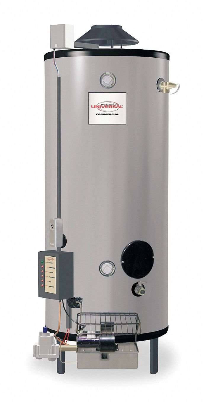 91 gal. Commercial Gas Water Heater, NG, 199900 BtuH