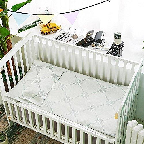 Oasis Hemp Sheet Pillowcase Sets Baby Summer Sleeping Mat Sheets Pack Of 2, 1 Sheet And 1 Pillow Towel for Kindergarten Or Home - (LJT 7402-JWTD) by LZ&Oasis (Image #1)