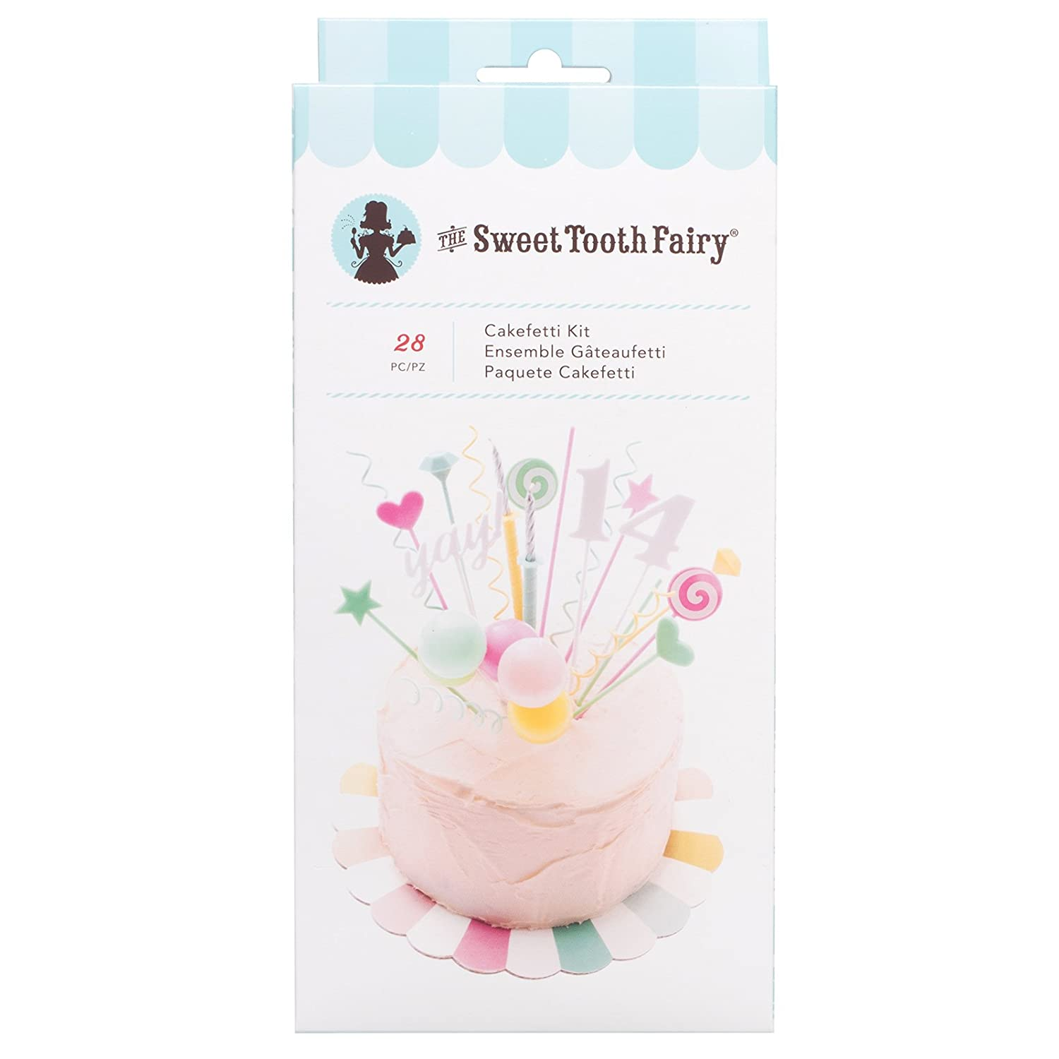 Amazon.com: American Crafts 341981 28 Piece Cakefetti Kit Sweet Tooth Fairy Cake Decorating: Kitchen & Dining