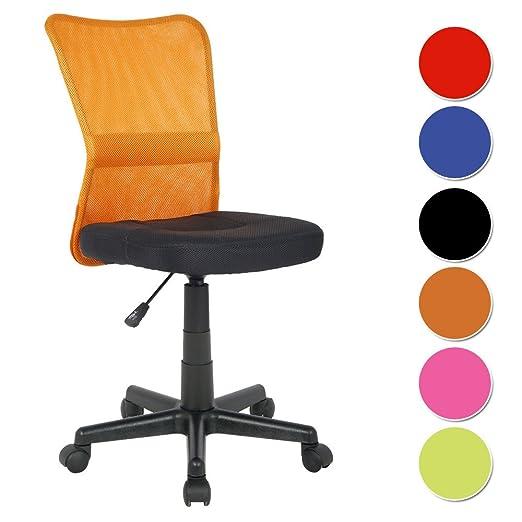 249 opinioni per SixBros. Sedia ufficio sedia girevole arancio/nero- H-298F/2112