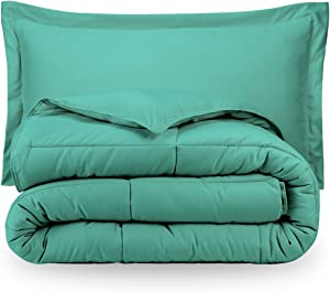 Turquoise Twin Extra Long Down Alternative Comforter Set by Ivy Union