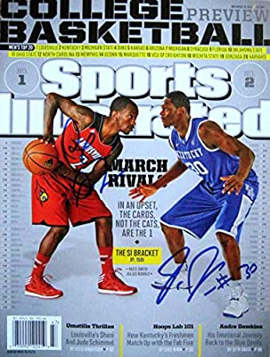 Julius Randle & Russ Smith KENTUCKY & LOUISVILLE autographed Sports Illustrated magazine 11/18/13
