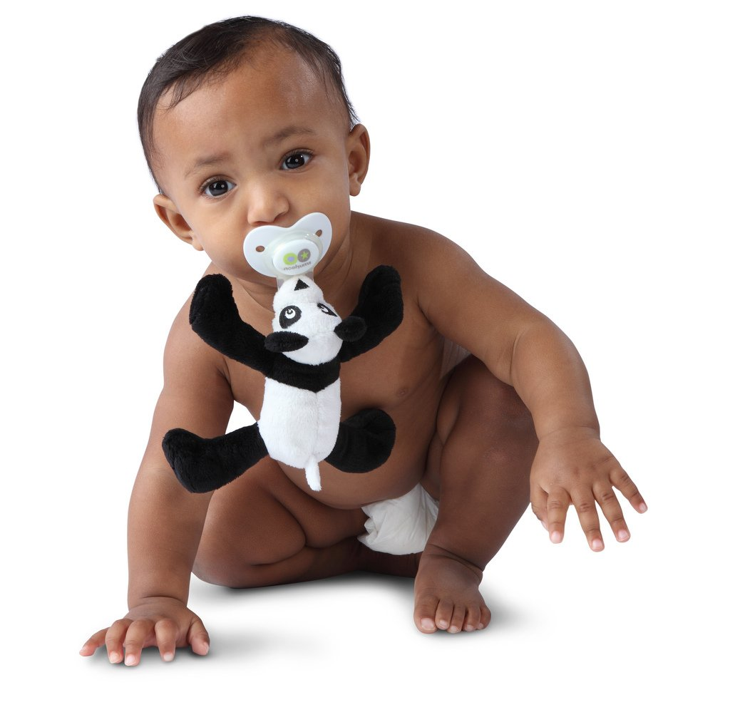 Paci-Plushies Buddies - Panda Pacifier Holder by Nookums