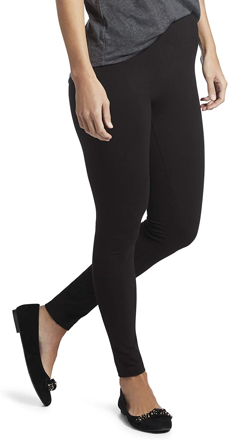 HUE Women's Cotton Ultra Legging with Wide Waistband, Assorted at  Women's Clothing store