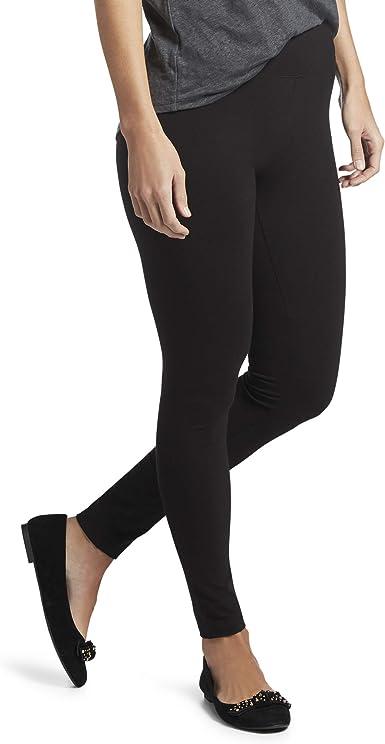 HUE - Mallas de algodón para Mujer con Cintura Ancha, Negro - X ...