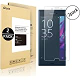Sony Xperia XZ1 Screen Protector, Vigeer [ 2 Pack ] [0.3mm, 2.5D] [Bubble-Free] [9H Hardness] [Easy Installation] [HD Clear] Tempered Glass Screen Protector for Sony Xperia XZ1